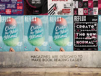 REFLUX: Design Magazine illustration magazine design refluxdesignmag designer branding magazine cover magazine design
