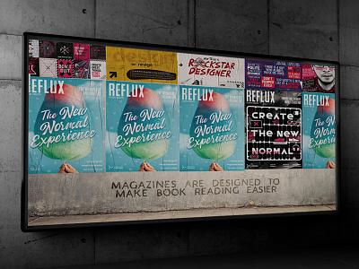 REFLUX: Design Magazine editorial magazine illustration design
