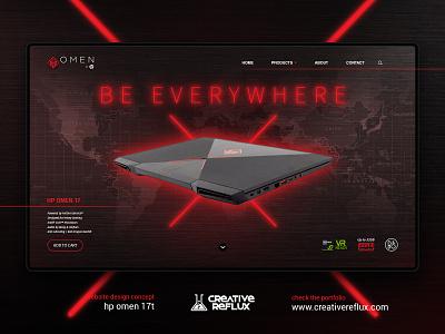 HP Omen website design web design laptop poster design website ux design ux freelance designer logo ui ui design designer design branding