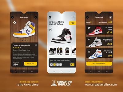 Shoes App app ecommerce shop adobe sketch dark mobile design mobile app mobile ui shoes basketball freelance designer website ux design ux ui ui design designer design branding