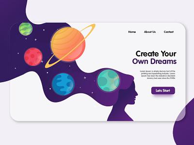 Dream Planet Landing Page