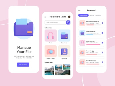 File Manager App - Manage your Files 3d app ux uiux ui file manager fileapp files