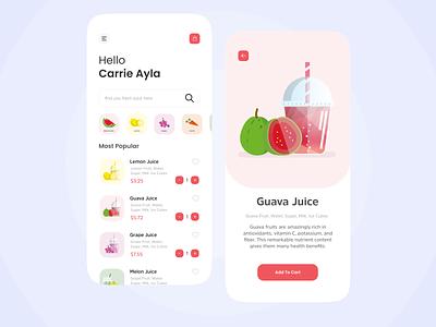 Juice App juices juiceapp juice illustration app ux ui