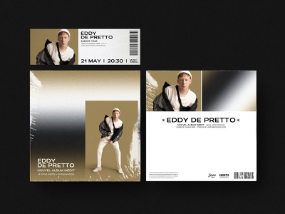 ALBUM COVER - Eddy de Pretto 💥 ticket ticket booking cd packaging cd cover cd covers designer graphic design music art direction graphicdesign cover art cover design cover album cover design album artwork album art album cover album design