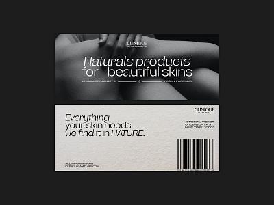 CLINIQUE BRANDING CONCEPT blackandwhite campaign identity print design poster packaging print skincare cosmetics sub-brand branding concept branding design brand design design branding