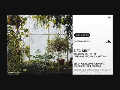 WEBSITE CONCEPT OF AN ADIDAS EVENT 👟🌱 website webdesign ui design ux design uiux ux ui streetwear homepage prototype animation animation prototype experiment event design concept design concept branding adidas originals adidas