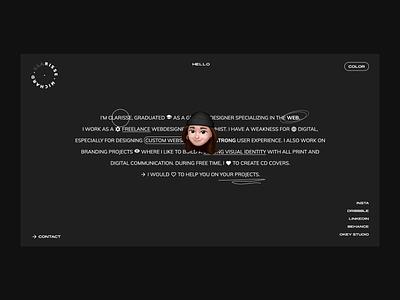 New personal website new web ux design uidesign ui  ux website concept personal website personal branding website design web design design ux uxdesign uiux homepage branding website ui ui design webdesign