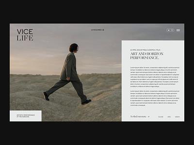 Vice, redesign concept website concept website design prototype uxdesign uiux branding website ui design ui webdesign