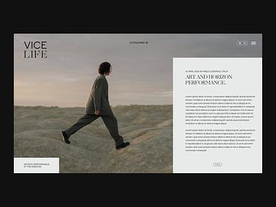 Vice, redesign website website concept website design prototype uxdesign uiux branding website ui design ui webdesign