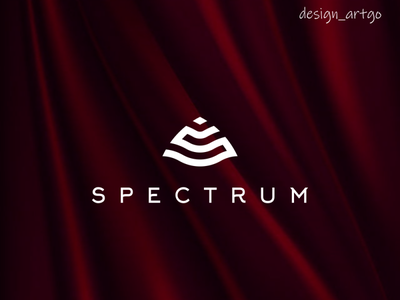 S logo lettering simple typography minimal flat design branding silk spectrum monogram brandmark logos logo slogo