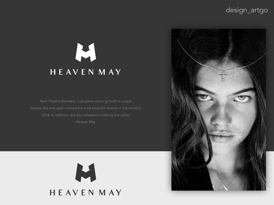 Heaven May, HM monogram lettering simple typography flat minimal design branding monogram thylane blondeau clothing brand logos logo hmlogo hm