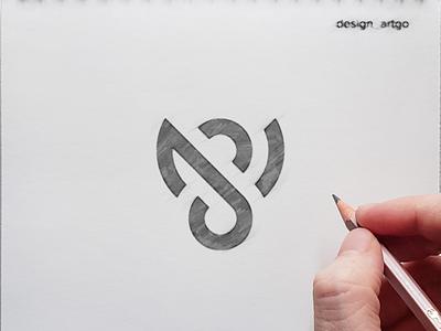 SJ logo process sketch vector lettering typography minimal design branding logo logo grid flat simple sj logo process sj logo