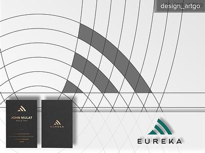 Eureka logogrid, E logo ux ui abstract monogram typography minimal design branding logogrid logodesign logos logo