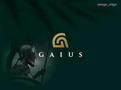 Gaius, G logo Spartan ux ui abstract monogram branding design minimal flat simple spartan logo