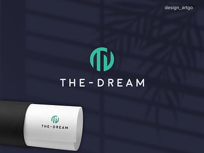 TD monogramlogo abstract lettering simple typography flat minimal design branding logos logo