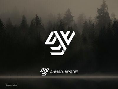 Ahmad Jayadie AJ ahmad jayadie overlapping logos vector lettering simple monogram typography minimal logo ux ui branding aj