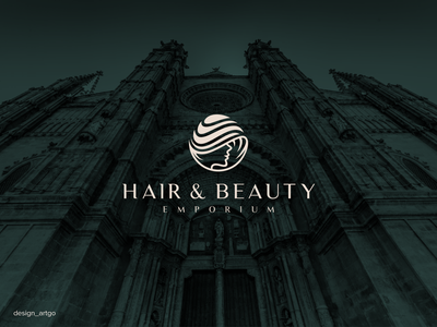 Hair and Beauty logo vector ui illustration simple typography flat design minimal logo branding luxurylogo beautylogo hairlogo elegantlogo