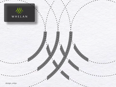 Whelan logo grid vector ui illustration simple classy typography flat design minimal logos logo branding