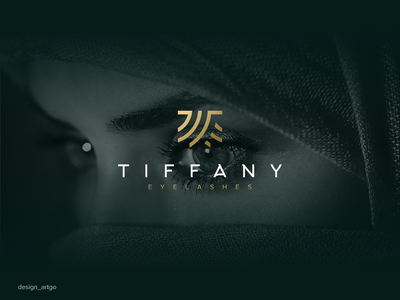 Tiffany vector ui illustration luxury simple typography flat design minimal logo branding