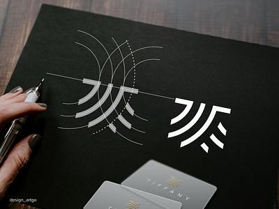 Tifanny Eyelashes logo process vector ui illustration simple typography flat design minimal branding luxury eyelasheslogo logos logo
