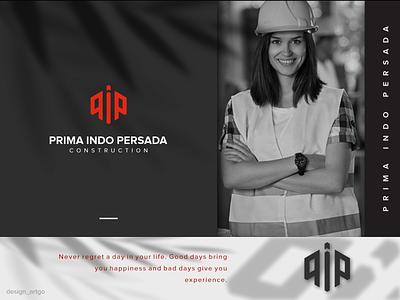 Prima Indo Persada vector ui illustration simple typography flat design minimal logo branding