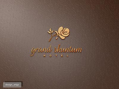 Grand Skuntum vector ui illustration simple typography beautiful flat design minimal logo branding resorts hotel