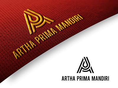 Artha Prima Mandiri vector ui illustration simple typography consultinglogo flat design minimal logo branding