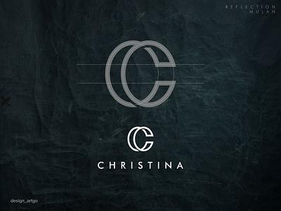 Christina, overlapping C logo inspiration overlapping vector ui illustration simple typography flat design minimal logo branding