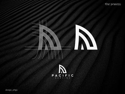 the process graphic design monogram vector ui illustration typography flat minimal logo branding design uiux fin shark simple