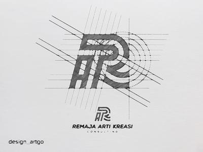RAK logo skecth vector ui illustration simple overlapping typography flat design minimal professionallogo raklogo logogrid sketch logo branding