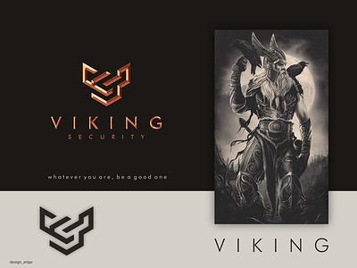 VS logo vector ui illustration simple typography flat viking vs design minimal logo branding