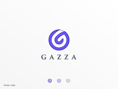 GAZZA monogram vector ui illustration simple typography flat design minimal logo branding gazza