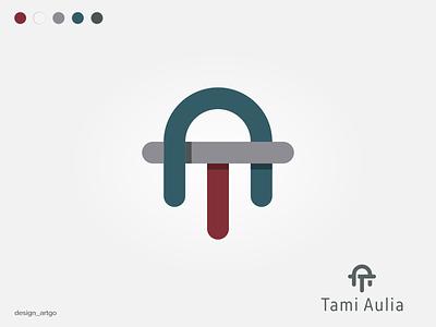 Tami Aulia vector ui illustration simple typography flat design minimal logo branding