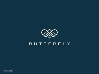 Butterfly vector ui illustration simple typography flat design minimal logo branding