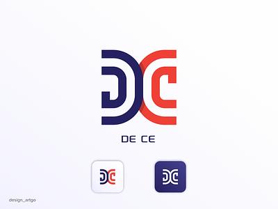 DC letters monogram vector ui illustration simple typography flat design minimal branding logo letter dc