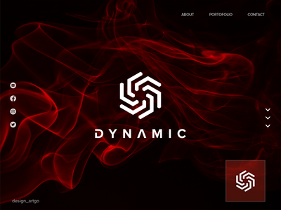 Dynamic monogram dynamic logo vector ui illustration simple typography flat design minimal branding logo