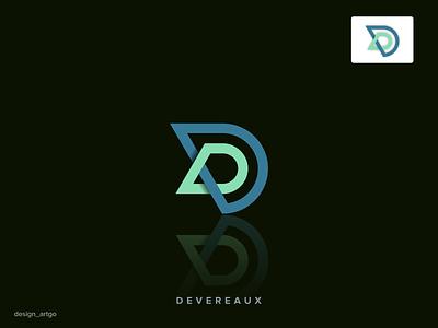 D letter logo monogramlogo overlapinglogo vector ui illustration simple flat design minimal logo branding d logo