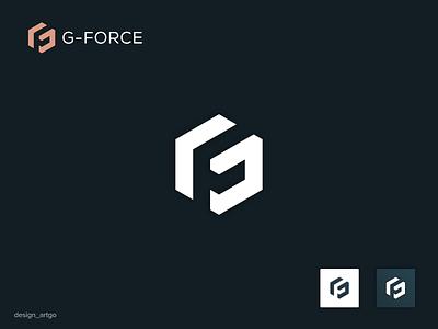 GF logo gf logo monogram vector ui illustration simple flat design minimal branding logos logo letter gf