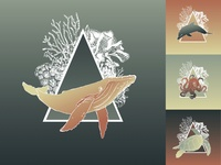 Sea Creature Icon Set
