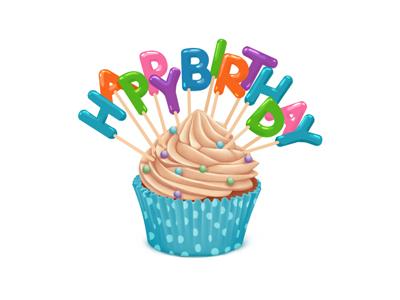 Happy Birthday Gift For Vk Com By Anton Kuryatnikov Dribbble
