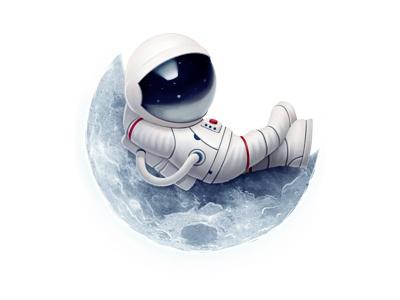 Cosmonautics Day Gift (gift for vk.com) cosmonautic astronaut moon space space suit holiday gift space travel cartoon kuryatnikov