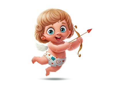 Cupid gift (for vk.com) by Anton Kuryatnikov on Dribbble