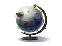 Globe for  moon tourism (for vk.com)