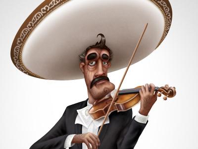 Amigo Mexicano kuryatnikov amigo character mexicano design mariachi anton