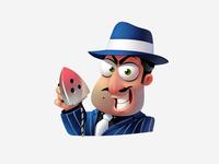 Gangster sticker (for ok.ru)
