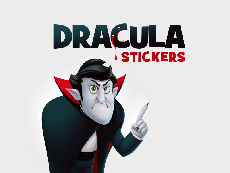 Dracula stickers (for ok.ru) blood dracula vampire social network character design character stickers