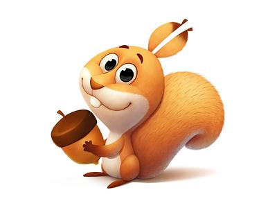 Squirrel character art squirrel character design