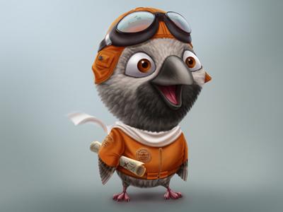 Chick map character hick bird pilot chick kuryatnikov anton