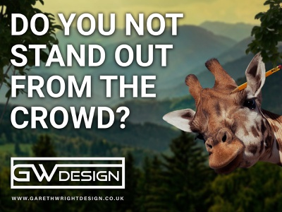 DO YOU NOT STAND OUT FROM THE CROWD? dribbble print designer designer logo designer art graphicdesign designs typography branding design vector photoshop art photoshop photomanipulation branding logo image design