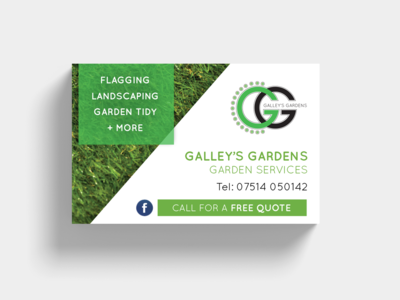 Galleys Gardens Logo and Business Card
